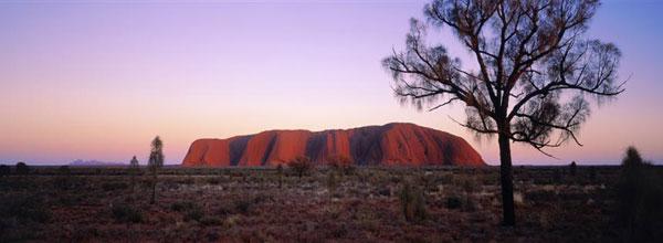 Uluru in the evening