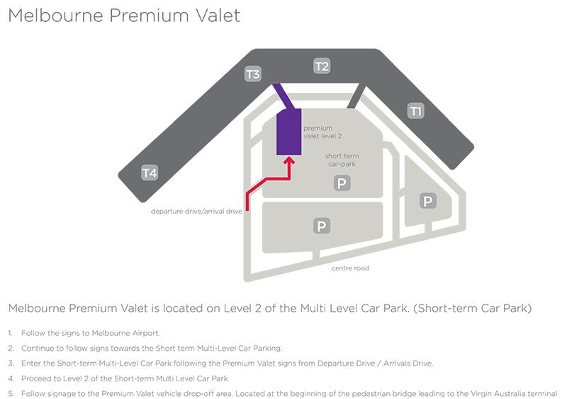 Melbourne Valet Map