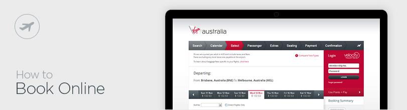 iPad displaying online booking screen