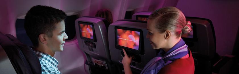 student on plane
