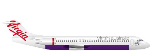 Fokker 100 profile view