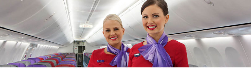 Flight specials - Virgin Australia crew on plane