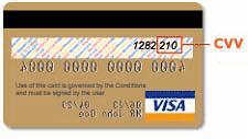 Visa CVV Location