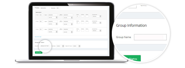 laptop showing enter in Group Name